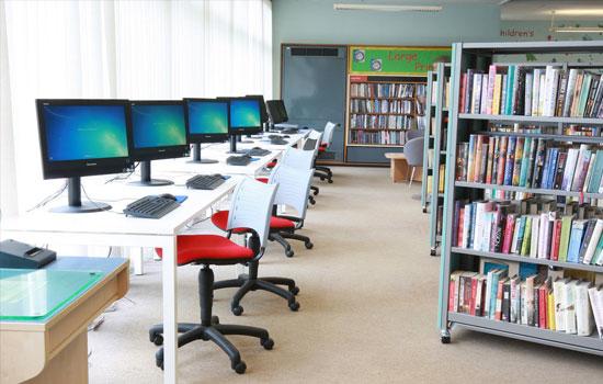 Library Shelving on Castors
