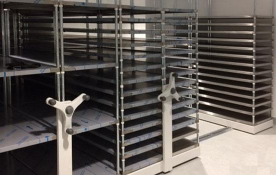 Mobile Stainless Steel Shelving