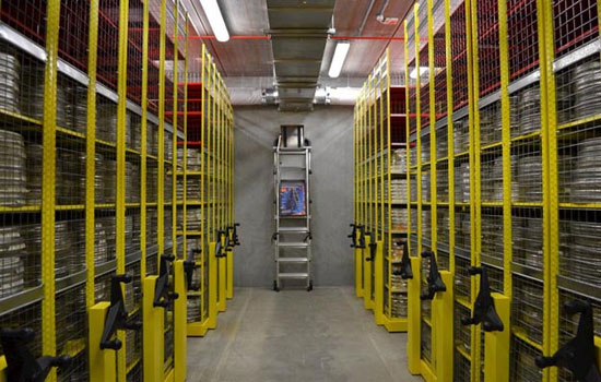 Secure Mobile Stockroom Racking