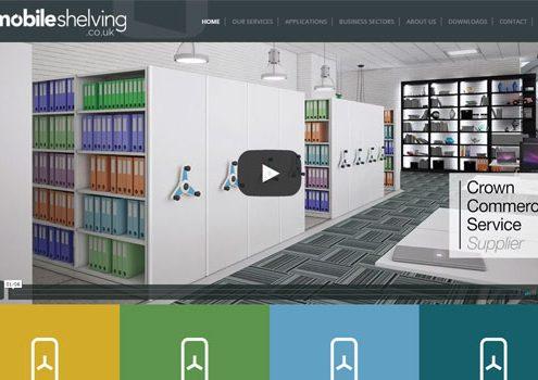 mobileshelving.co.uk website screenshot