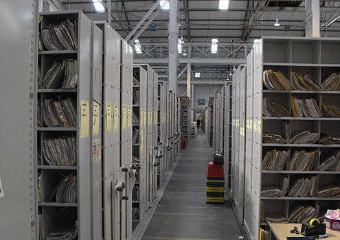 Medical Record Mobile Shelving